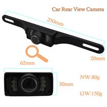 Telecamera a infrarossi impermeabile auto vista posteriore con immagine speculare per la retromarcia( supporto- up), infrarossi ip66 3m