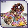 tiger leopard pattern italian silk scarf