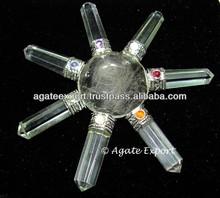Crystal Quartz Chakra Energy Generator : Gemstone Heailing Engery Genratoer