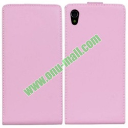 Pure Color Simple Design Flip Leather Case Cover for Sony Xperia Z1 L39h