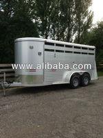 "W-W Horse Trailer 16' L X 6' W X 6'-6"" H All Aluminum Heavy Duty Stock"