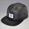 custom black plain leather snapback hats