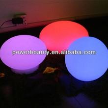 Controle remoto em forma de bola redonda lâmpada recarregável lâmpada com luzes led rgb
