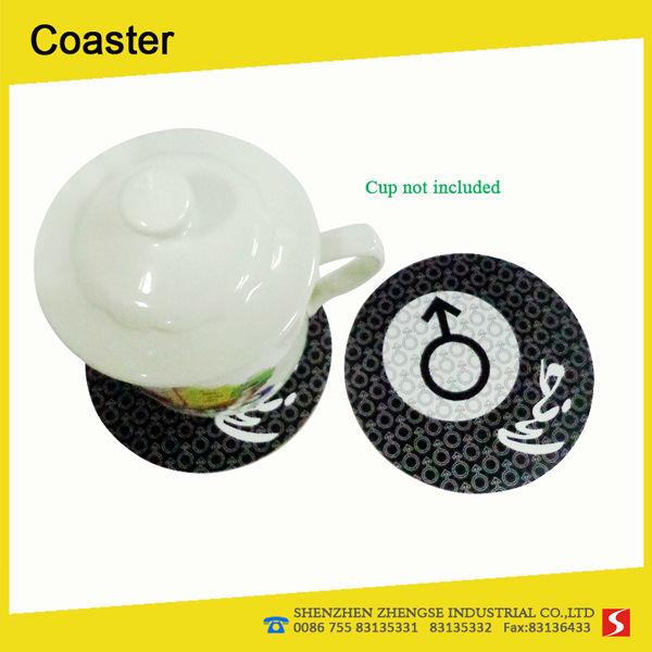 Eco-friendly cork decorative tea coaster coffee mug pad