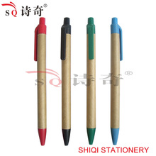 promotional cheap biodegradable recycled paper ball pen