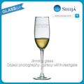 Provindo longo cristal louças primeiro nome& data gravada memorizado copos personalizados 8 onça conhecedor de flautas de champanhe