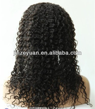 New arrival No tangle wholesale jerry curl peruvian virgin hair wig