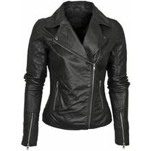 Awesome Stylish Women's Black Leather Jacket wj108 XS S M L XL Free Ship