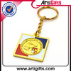 Gold plated sublimation metal key chain