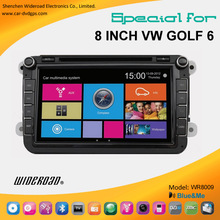 vw golf 6 2 din 8 inch touch screen car radio dvd cd gps support blue & me