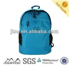 Sky blue polyester material fabric kids school book bag