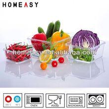 HOT SALE 3-pcs set stackable glass food container set