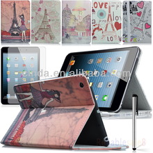 New Stand Painted Eiffel Tower Skin Case Cover for Apple iPad Mini 2 2nd Retina