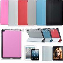 Popular Ultra Thin Tri-fold Stand Folio Fold Case Cover for iPad Mini 2nd Retina