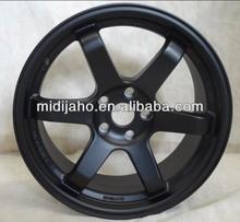 MATT BLACK VOLK TE37 RT ALUMINUM ALLOY WHEEL FOR CAR