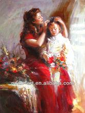 pittura a olio per la madre e il bambino