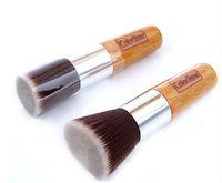 flat top make up liquid powder foundation brush bamboo handle