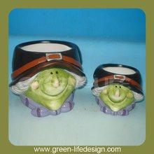 Witch decorative Halloween flower pot crafts