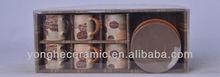 Factory wholesales ceramic printing espresso set