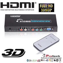 5 RCA Component Video YPbpr RGB +Audio To HDMI Video Converter PSP STB XBOX PS2 PAL / NTSC