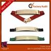 2014 Wide Band Elastic Metal Metallic Bling Mirror Gold Plate Obi Waist Belt Leather