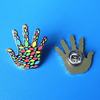 colorful finger hand shape lapel pin ,UAE hand pin badges