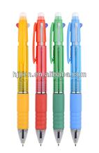 Cheap Eco Plastic Ballpoint Pen 4 in 1 Multifunctional Pen