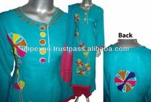 Ladies Winterwear Embroidered Marina Dress ( 3 pcs suit )