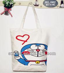 Custom personalized tote bag canvas cartoon cute bag