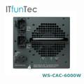 Original de cisco módulo de valores ws-cac-6000w cisco interruptor de fuente de alimentación del módulo de red