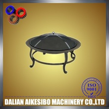 Modern Style! Cast iron fire pit bowl with heat resistant painting