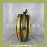 Harvest festival gift green ceramic pumpkins