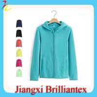 Customized Casual Fitted Plain Polar Fleece Women Hood Sweatshirt