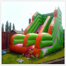 Green Animals Slide Inflatable For Kids Playing