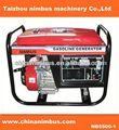 Taizhou Nimbus mejor servicio de uso en el hogar del generador de gasolina portátil burgess micro interruptor