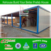 Low cost color steel prefab mobile living container house