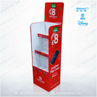 3tier cardboard floor stand display for Mobile phone accessories retail