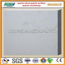 white marble finish quartz stone