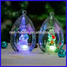 New Design Amazing Open Christmas Glass Balls Ornaments
