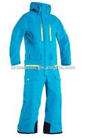 Blue ladies snow suit waterproof one piece snow suit