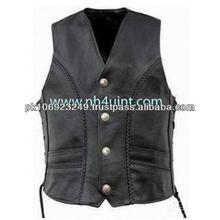 Leather motorcycle Vest,NEUE LEDERWESTE LEDER WESTE KUTTE MOTORRAD BIKER Vest CHOPPER ROCKER