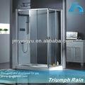 cabine de douche en verre carré