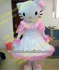 adult New lovely wedding hello kitty cartoon character Mascot Costume Fancy Dress