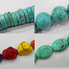 howlite turquoise beads, round 4-20mm, many shapes for choice, 16-inch per strand