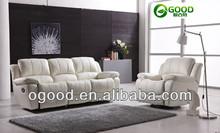 Modern White Leather Recliner Sofa Set OSR82(5)