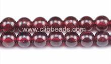 A grade red 10mm round garnet beads