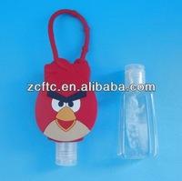 Bird design bottle with small flip top cap 29ml/30ml, Plastic pocket bottle