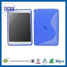 C&T S Shape Line Wave TPU Gel Skin Case Back Cover for ipad mini 2