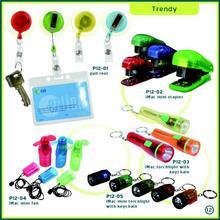 Corporate Gifts Singapore - Lanyard Pull Reel, Mini Stapler, Stationery Set, Mini Torch Light, Mini Battery Fan