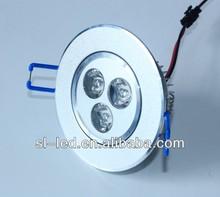 30/45/60degree AC90-240V Edison/Cree 3w high power led downlight 90mm